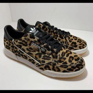 """NEW"" Men's Adidas Continental 80 Leopard print"